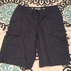 Navy Blue Urban Pipeline Shorts
